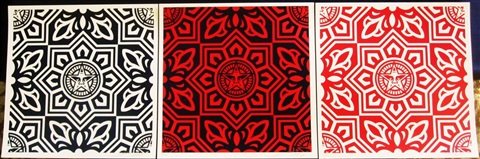 venice pattern print set of 3 works by shepard fairey