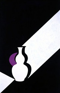 arita flask: black	 by patrick caulfield