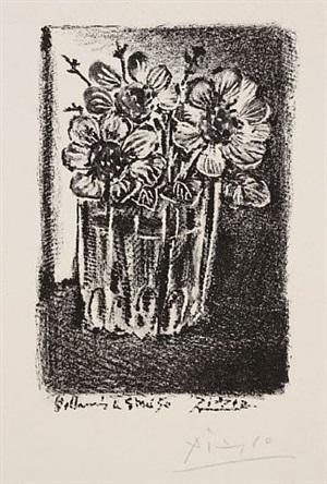 fleurs dans un vase by pablo picasso