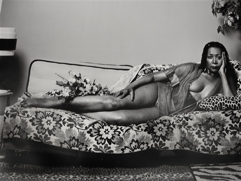 brooklyn museum benefit- madame mama bush in black and white by mickalene thomas