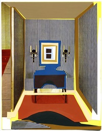 brooklyn museum benefit- interior: striped foyer by mickalene thomas