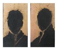 untitled (heads; 2 works) by richard hambleton