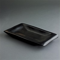 alexandre noll ebony wood tray by alexandre noll