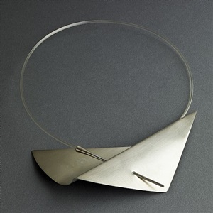 claude chauvent sterling neck ring with pierced folded metal by claude chavent