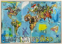 skateboard map by eric liot
