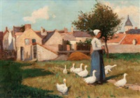 feeding the geese by eugene lawrence vail