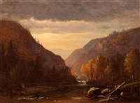 new hampshire autumn by benjamin champney