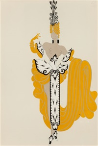 mannequin (3 works) by erté