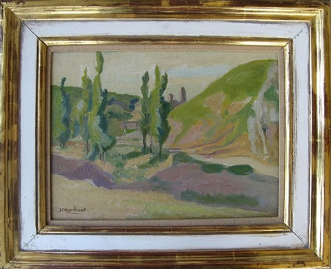 paysage aux arbres by jean hippolyte marchand