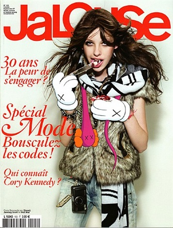 jalouse magazine, september 2007 by kaws