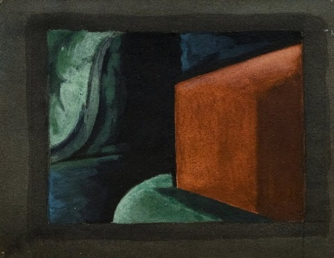 "study for ""approaching black"" by oscar florianus bluemner"