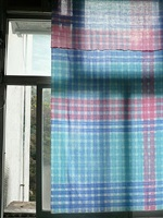 hand painted cloth (used as window curtain) by kit lee