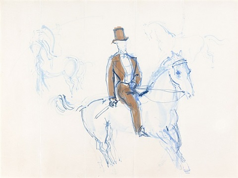 cavalier, study for a screen by raoul dufy