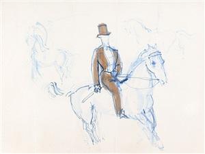 cavalier au cirque, study for a screen by raoul dufy
