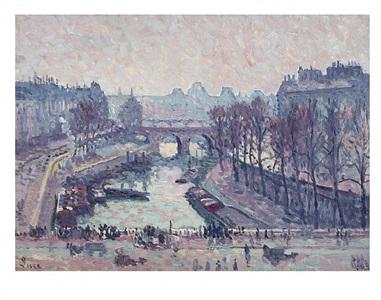 le petit bras de la seine au pont saint michel by maximilien luce