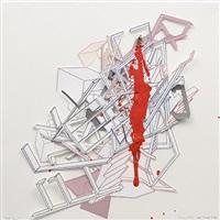 red drip by liliana porter and ana tiscornia