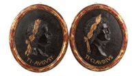 a pair of neoclassical portrait plaques of roman emperors by anonymous (20)