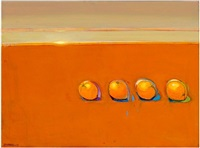four leftover oranges from the bygone good old times by raimonds staprans