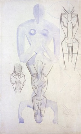 studies for 'rock drill' by sir jacob epstein