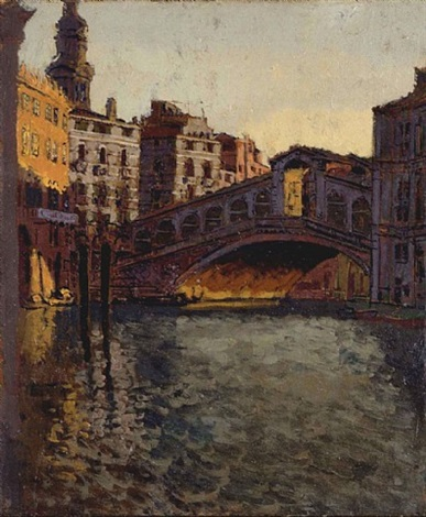 the rialto bridge, venice by walter richard sickert
