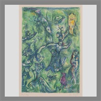 pl. 9, abdullah discovered before him... by marc chagall