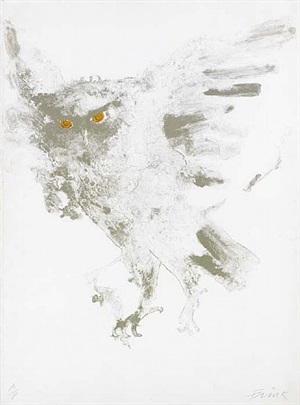 eagle owl by elisabeth frink