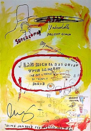 supercomb by jean-michel basquiat