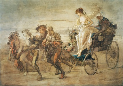 around coutures the courtesans chariot by thomas couture