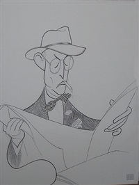 damon runyon by albert hirschfeld