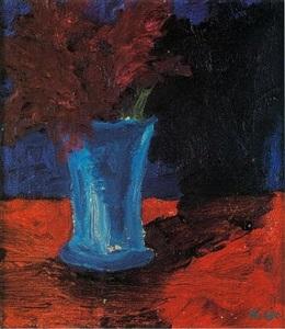 vase mit blumen by emil nolde