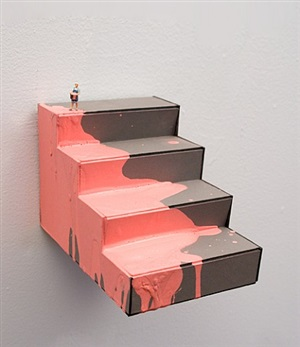 pink steps by liliana porter and ana tiscornia