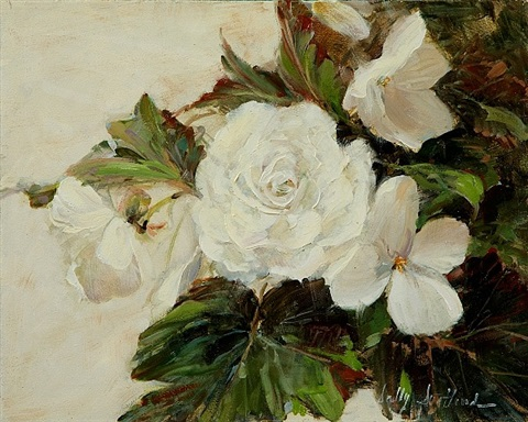 white begonias by sally swatland