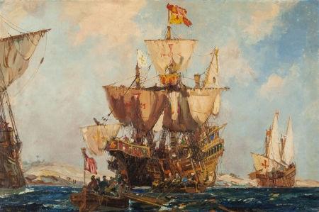 Pirate Ships by Frank Henry Mason on artnet