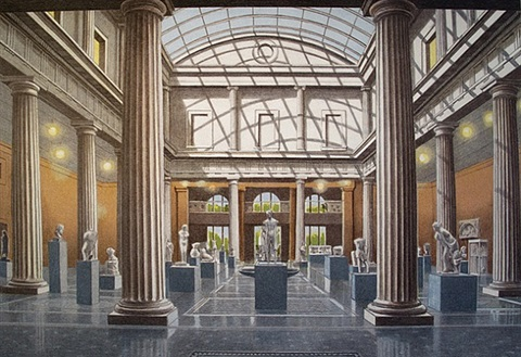 leon levy & shelby white court, metropolitan museum of art by richard haas