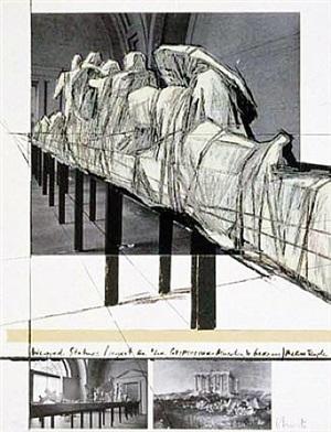 wrapped statues/projekt für die glyptothek münchen by christo and jeanne-claude