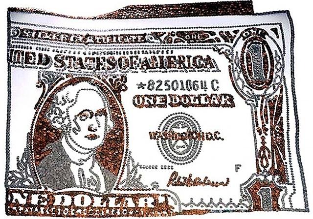 dollar bill, from rebus by vik muniz