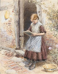 the little artist by myles birket foster