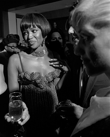 oscar party, naomi campbell, los angeles, february, 2002 by larry fink