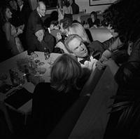oscar party, warren beatty, los angeles, march, 2001 by larry fink