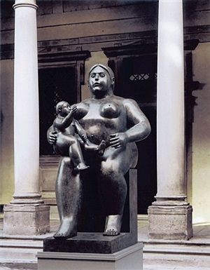 maternity by fernando botero