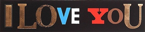 i love you (black gloss) by peter blake