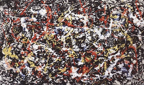 convergence #10, after pollock (from pictures of pigment) by vik muniz