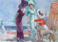social gathering, ogunquit beach by clarence k. chatterton