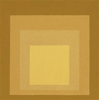 study for homage to the square: soft pulse by josef albers