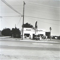 mobil, shamrock, texas, from five views from the panhandle portfolio by ed ruscha