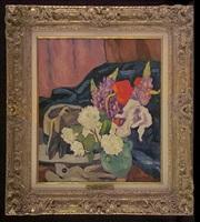 fleurs, gants et chapeau by louis valtat