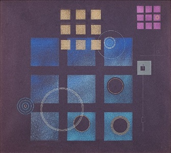 geometric abstraction with squares by rolph scarlett