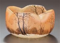 landscape bowl by legras (co.)