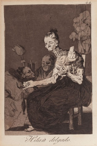 hilan delgado pl 44 from los caprichos by francisco de goya