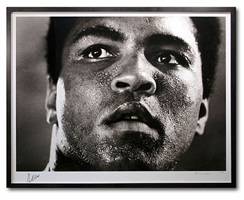 portrait of muhammad ali by michael brennan